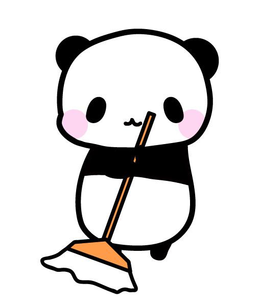 お掃除パンダ